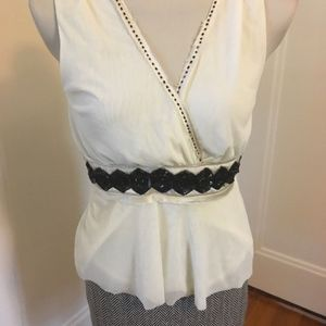 New The Limited Ivory Sleeveless Top Career Size M